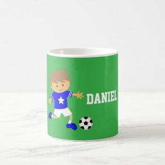 Muchacho lindo de la estrella de fútbol, tema del taza clásica