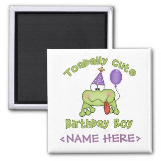 Muchacho lindo del cumpleaños de Toadally Imán Para Frigorifico