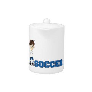 Muchacho lindo del fútbol del fútbol del dibujo an