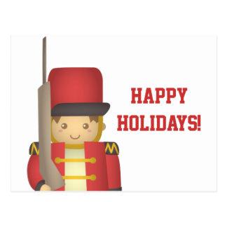 Muchacho lindo del soldado de juguete del navidad  postales