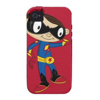 Muchacho lindo del super héroe Case-Mate iPhone 4 carcasa