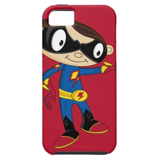 Muchacho lindo del super héroe iPhone 5 cobertura