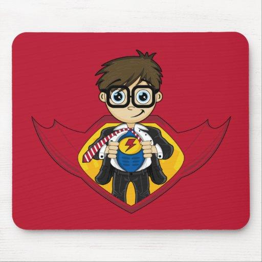 Muchacho lindo Mousepad del super héroe