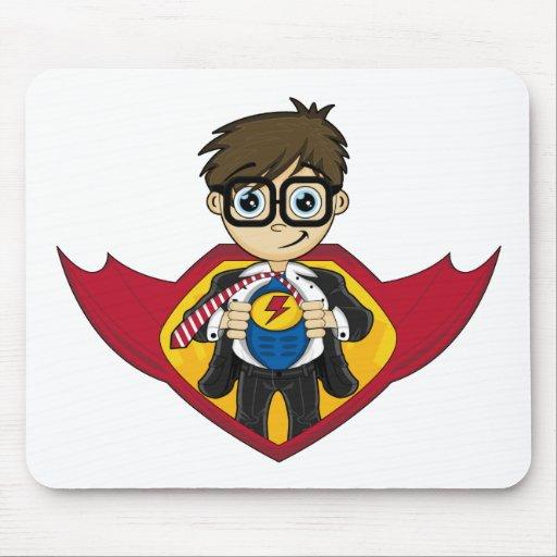 Muchacho lindo Mousepad del super héroe Tapetes De Ratón