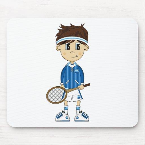 Muchacho lindo Mousepad del tenis Alfombrilla De Raton