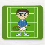 Muchacho lindo Mousepad del tenis Alfombrillas De Raton
