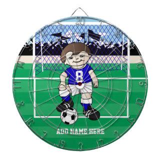 Muchacho lindo personalizado del fútbol tablero de dardos