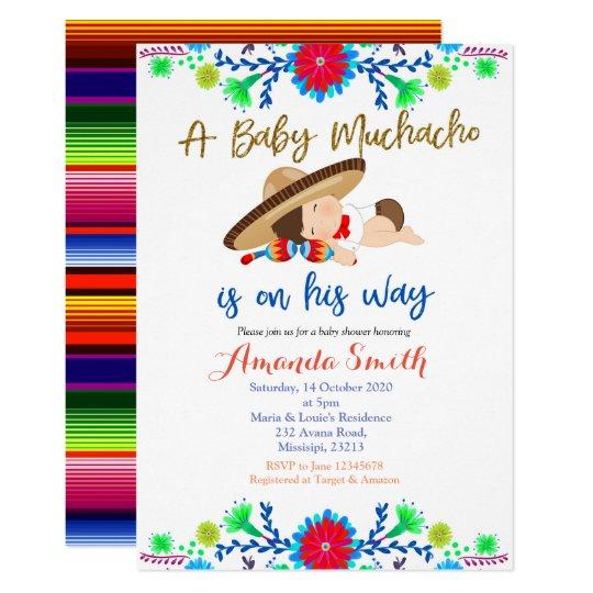 Muchacho Mexican Fiesta Baby Shower Invitation