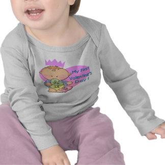 Muchacho mi manga larga infantil del 1r el día de camisetas