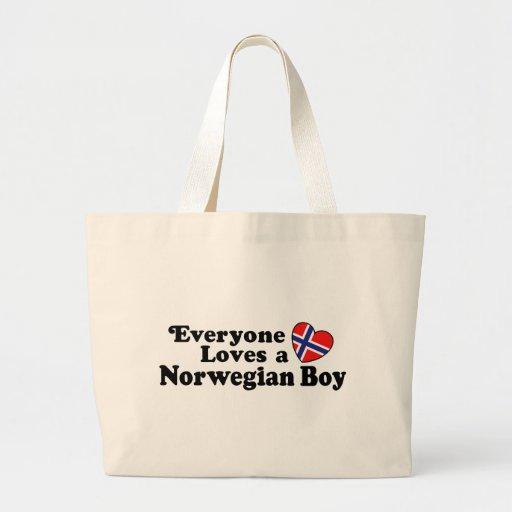 Muchacho noruego bolsa tela grande