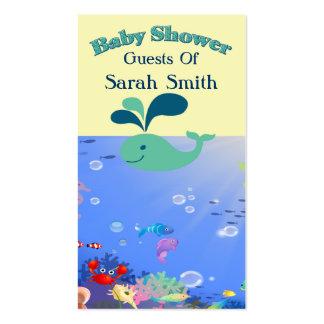 Muchacho o chica subacuático de la fiesta de bienv tarjetas de negocios
