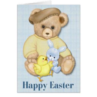 Muchacho Pascua del peluche Felicitaciones