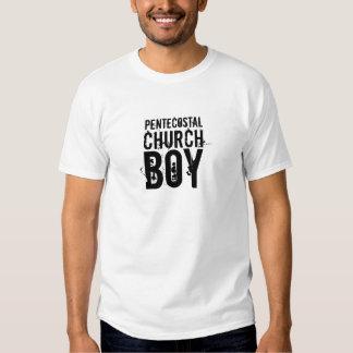 Muchacho pentecostal de la iglesia remeras