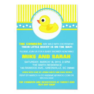 Muchacho poca invitación Ducky de goma de la Invitación 12,7 X 17,8 Cm
