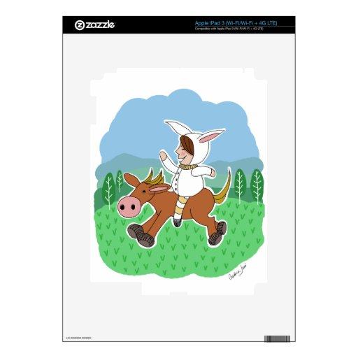 Muchacho que monta un caballo iPad 3 pegatinas skins