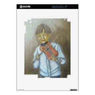 muchacho que toca el violín calcomanías para iPad 2