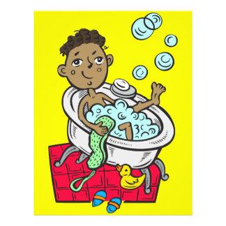 """Muchacho que toma el baño folleto 8.5"""" x 11"""""""