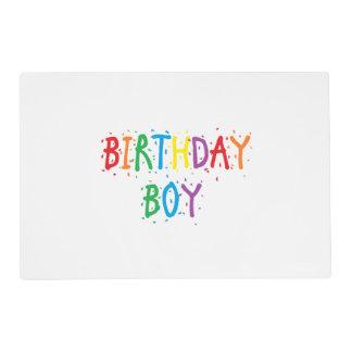 Muchacho reversible del cumpleaños/día especial tapete individual