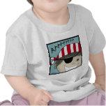Muchacho Rrrrrr del pirata Camiseta