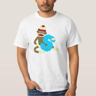 Muchacho S del monograma del mono del calcetín Camisas