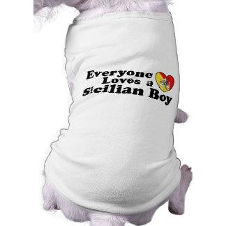 Muchacho siciliano camisas de perritos