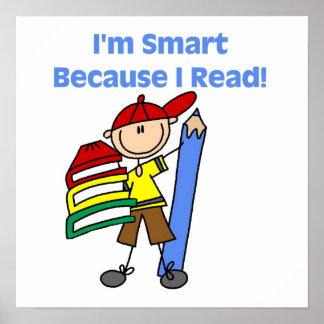 Muchacho Smart porque leí Póster