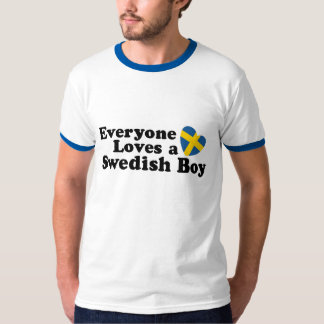 Muchacho sueco playera