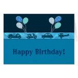 Muchacho total del cumpleaños en feliz cumpleaños  felicitación