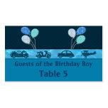 Muchacho total del cumpleaños en tabla azul plantilla de tarjeta de negocio