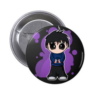 Muchacho triste de Manga Pin Redondo 5 Cm