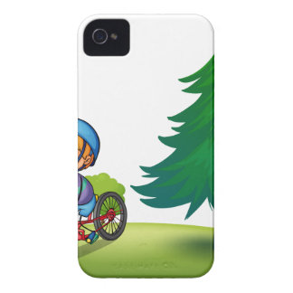 Muchacho y bici iPhone 4 Case-Mate protector