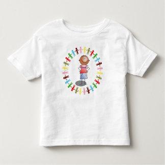MUCHACHO y camiseta MULTICOLORA del niño de la Remeras