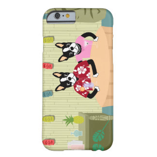 Muchacho y chica de Boston Terrier Funda Para iPhone 6 Barely There