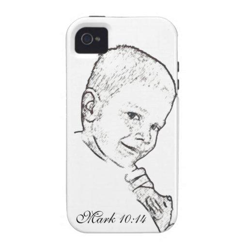 Muchacho y peluche (10:14 de la marca) iPhone 4 funda