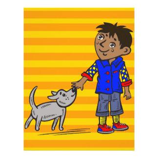 """Muchacho y su perro folleto 8.5"""" x 11"""""""