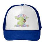 Muchachos 2do cumpleaños feliz, afroamericano gorros bordados