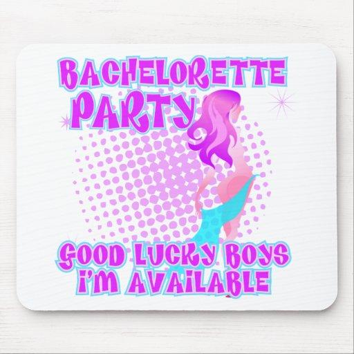 Muchachos afortunados del fiesta de Bachelorette b Mouse Pads
