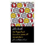 Muchachos coloridos de la diversión de los huesos  tarjetas personales