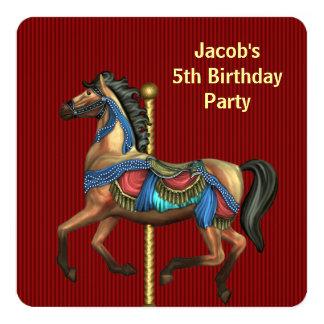 """Muchachos cualquier fiesta de cumpleaños del invitación 5.25"""" x 5.25"""""""
