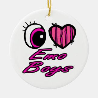 Muchachos de Emo del amor del corazón I del ojo de Adorno Redondo De Cerámica