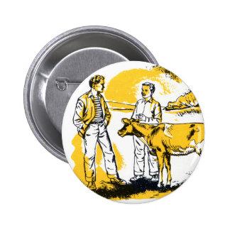 Muchachos de granja retros del kitsch del vintage  pin