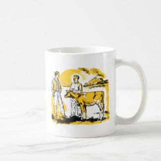 Muchachos de granja retros del kitsch del vintage  taza