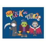 Muchachos de Halloween Tarjeta Postal