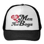 Muchachos de los hombres del amor no gorros
