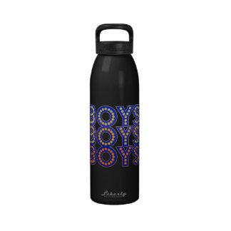 Muchachos de los muchachos de los muchachos botellas de agua reutilizables