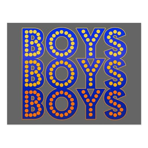 Muchachos de los muchachos de los muchachos tarjeta postal