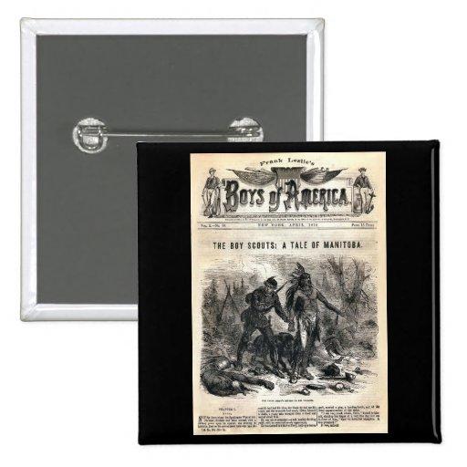 Muchachos de no. 56, 1878 de América vol. X. Pin Cuadrada 5 Cm