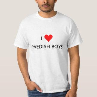muchachos del sueco del corazón i playera