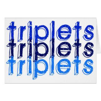 Muchachos del trío tarjeta de felicitación