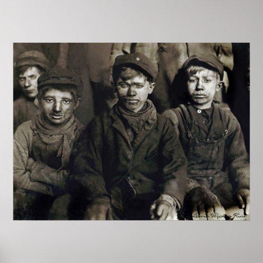 Muchachos del triturador de Pittston de Lewis Wick Posters